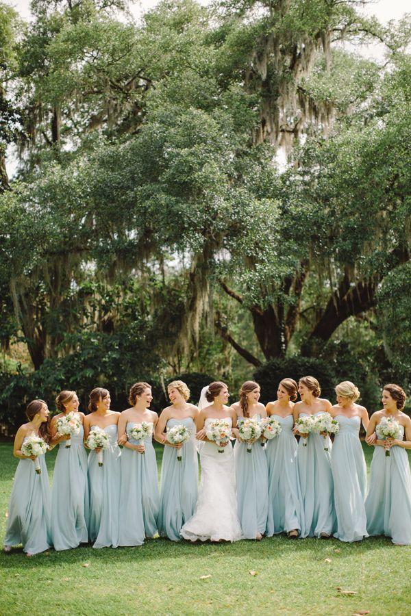 Unposed bridesmaids