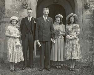1940 Wedding Dress Photo
